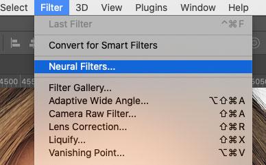 Filter > Neural Filters..