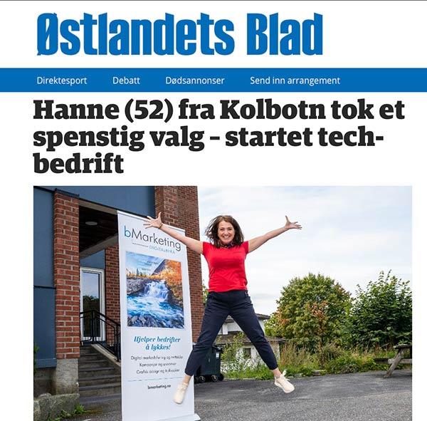 """""""Hanne (52) fra Kolbotn tok et spenstig valg – startet tech-bedrift"""""""